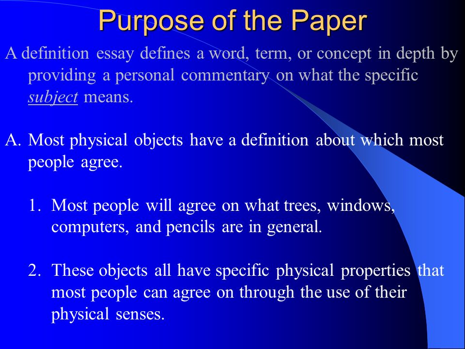 powerpoint definition essay