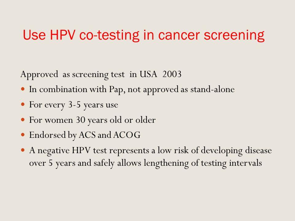 cervical cancer screening guidelines 2012