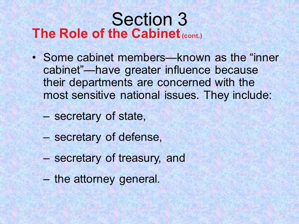 The Cabinet Chapter 8 Section ppt video online download