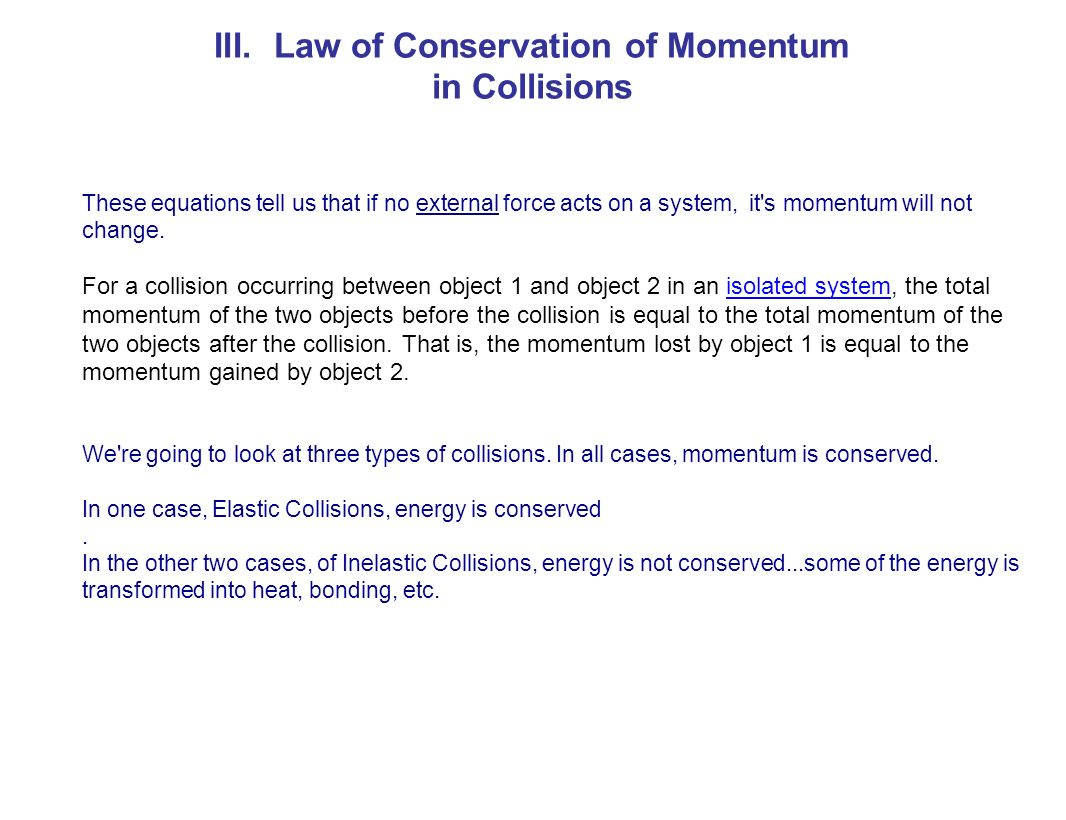 Momentum ppt download law of conservation of momentum biocorpaavc Images
