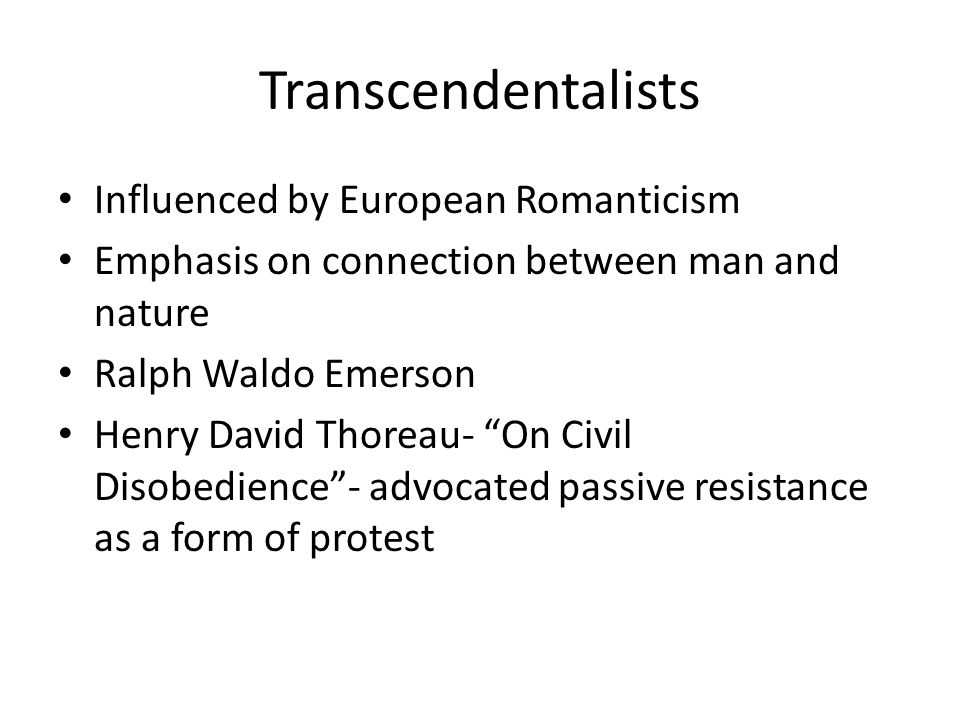 the transcendental influences of ralph waldo emerson and henry david thoreau Henry david thoreau: friendship with emersonand affirmatives came new england transcendentalism  in retrospect, it was one of the most significant literary movements of 19th-century america, with at least two authors of world stature, thoreau and emerson, to its credit.