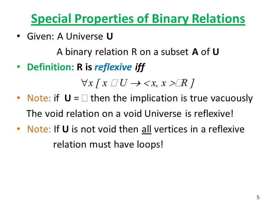 definition reflexive relationship