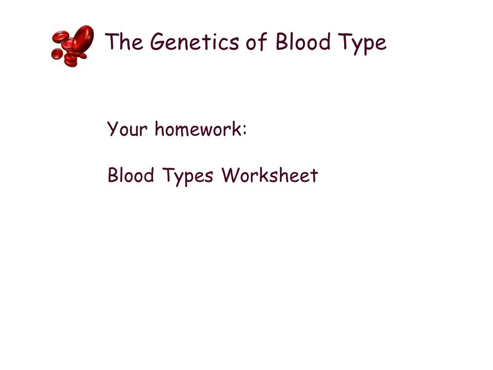 Blood Types The Genetics of Blood Type ppt download – Blood Type Worksheet