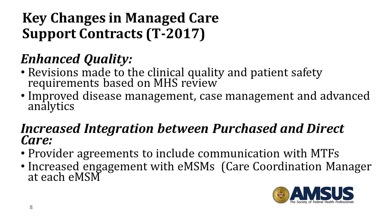what are some providers and patient concerns with managed care This chapter discusses some of the major trends in managed care and their implications for behavioral health care: (1) the increasing rate of growth of managed care, (2) the rapid expansion in the use of managed care systems by public-sector populations, (3) the role of purchasers in managing costs, and (4) the recognition of quality assurance .