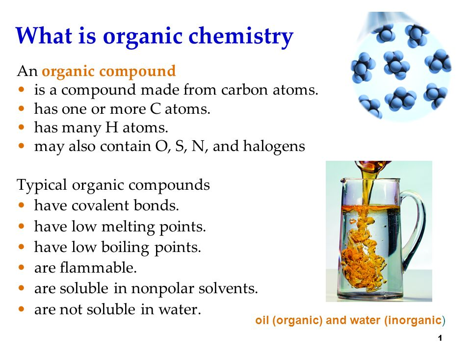 how to know if it is an organic compound