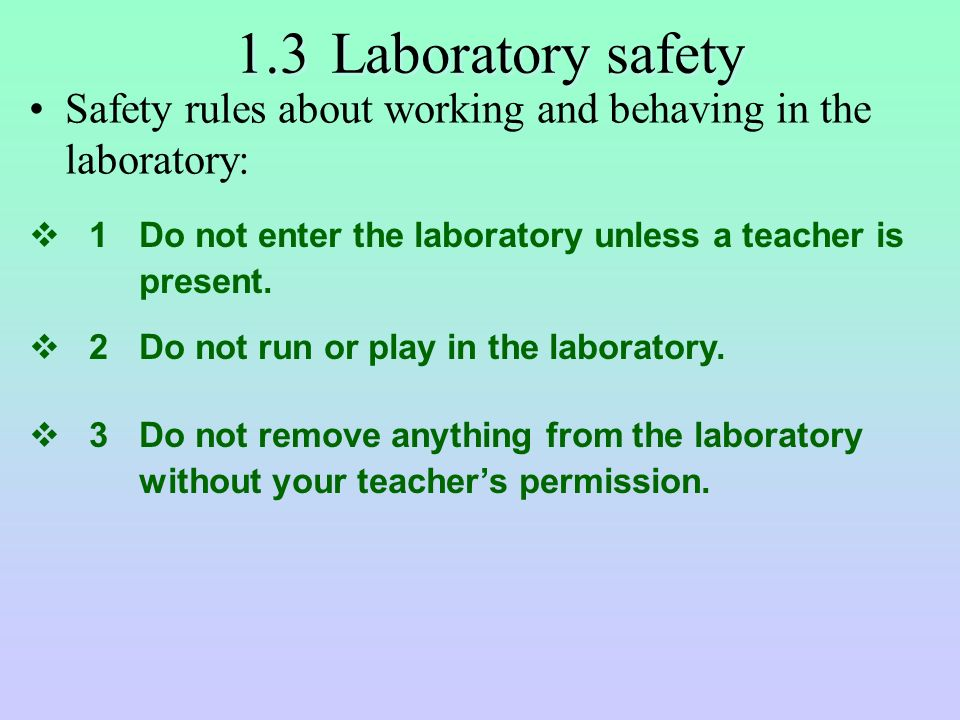 F.3 Chem -- Section One Safety in Laboratory. - ppt video ...