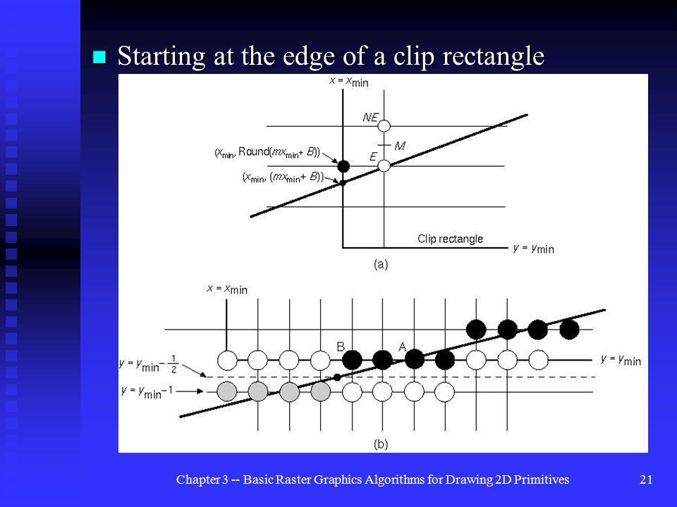 Implementation Of Line Drawing Algorithm : Basic raster graphics algorithms for drawing 2d primitives ppt