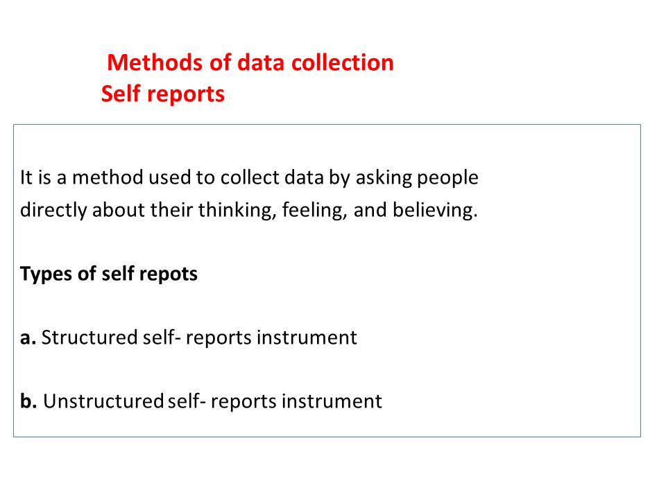 example of instrument used to collect Measurement - types of instruments - 1 rsmichael  what is the stated purpose of the instrument is it to: • collect information  instrument example:.