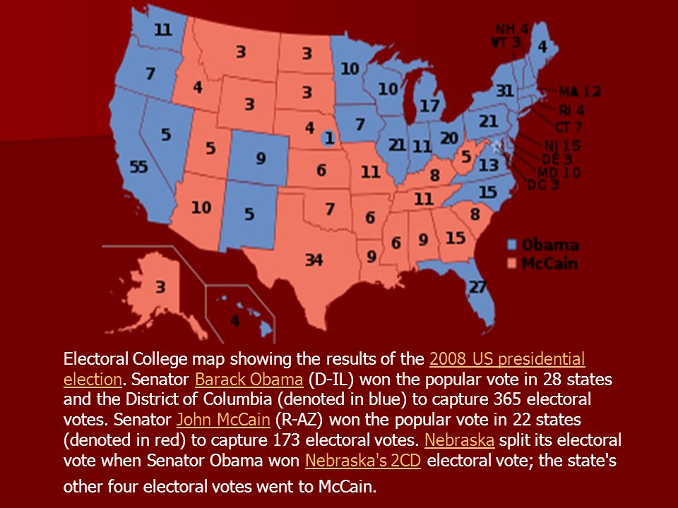 Electoral College Citizens go to the polls and vote on the ...