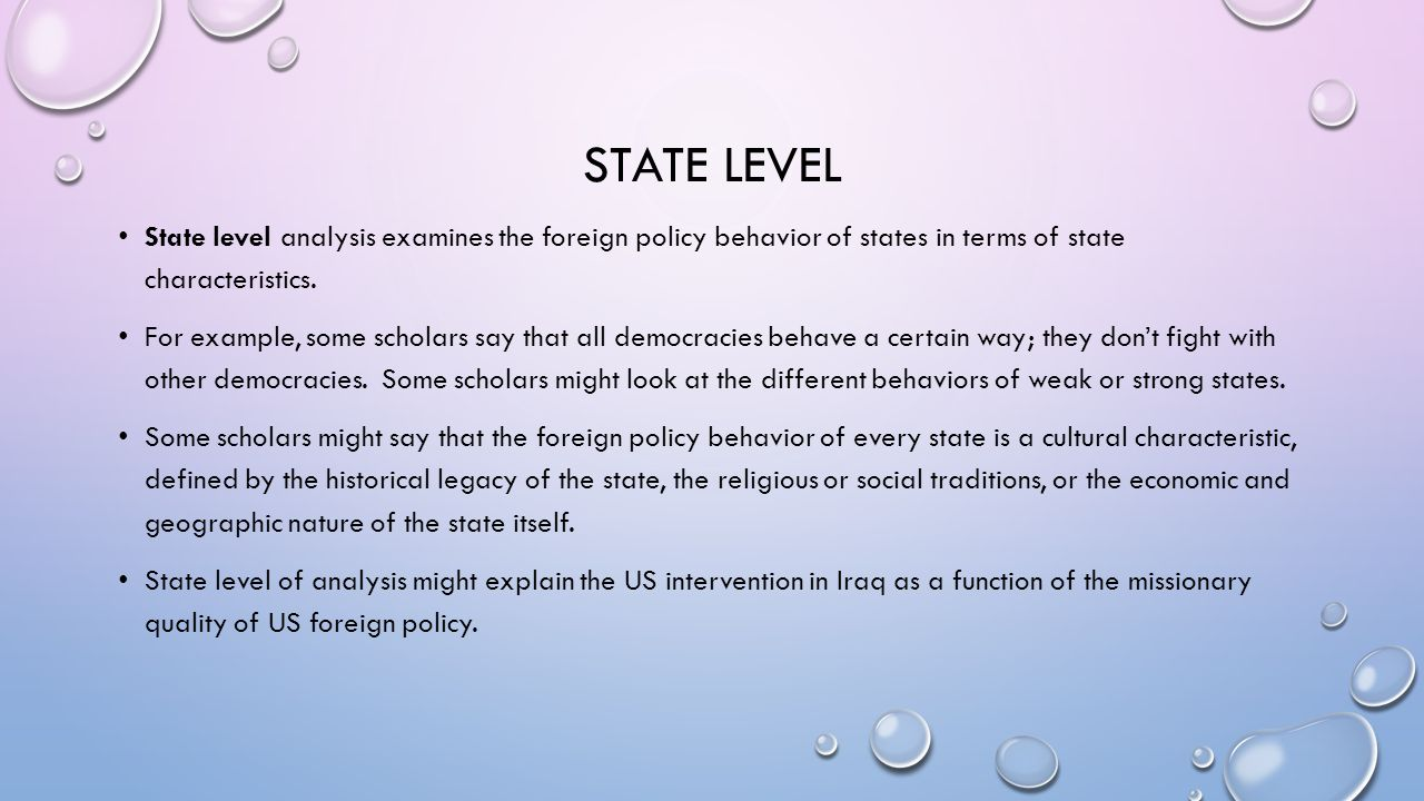 an analysis of the different characteristics in all countries In the unesco crisis the industrialized countries were confronted with  three competing approaches of foreign policy analysis  state characteristics and.