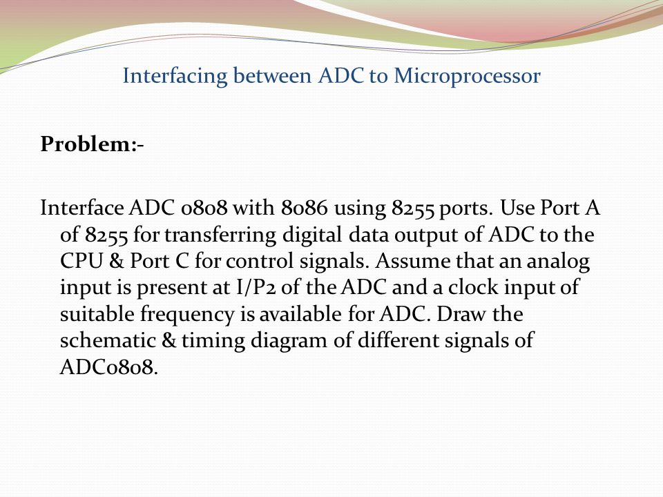 Interfacing between ADC to Microprocessor