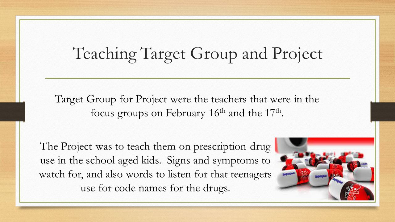 Teaching Target Group and Project