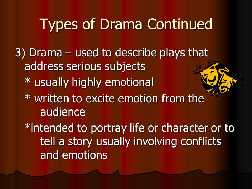 what is drama  types of drama elements of drama