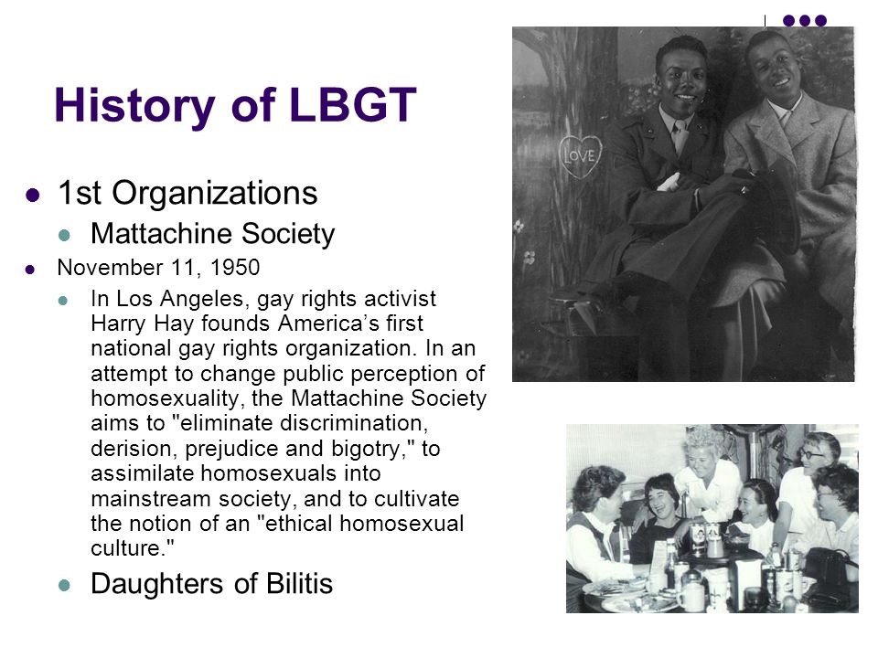 Mattachine Society And The Daughters Of Bilitis
