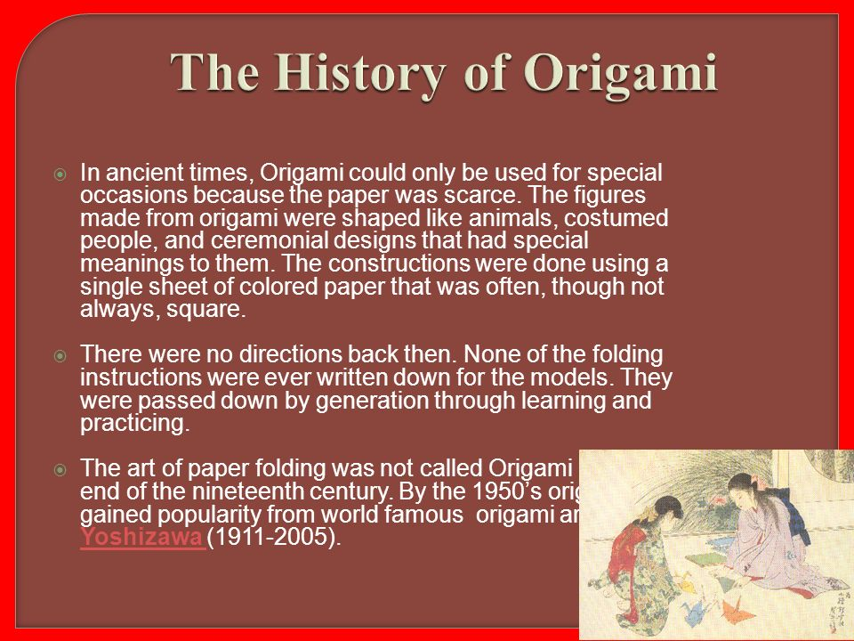 ����� welcome to the world of origami ppt video online