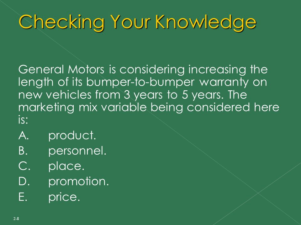 general motors marketing mix For instance, general motors is an industrial company and as such most emphasis should be put on direct marketing in addition, the company will select specific periods within the year to carry out sales promotion aimed at acquiring short term sales targets.