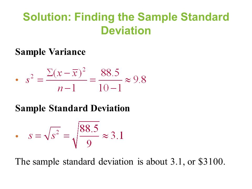 how to find sample standard deviation calculator