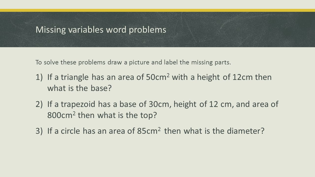 2d perimeter and area ppt download missing variables word problems ccuart Image collections