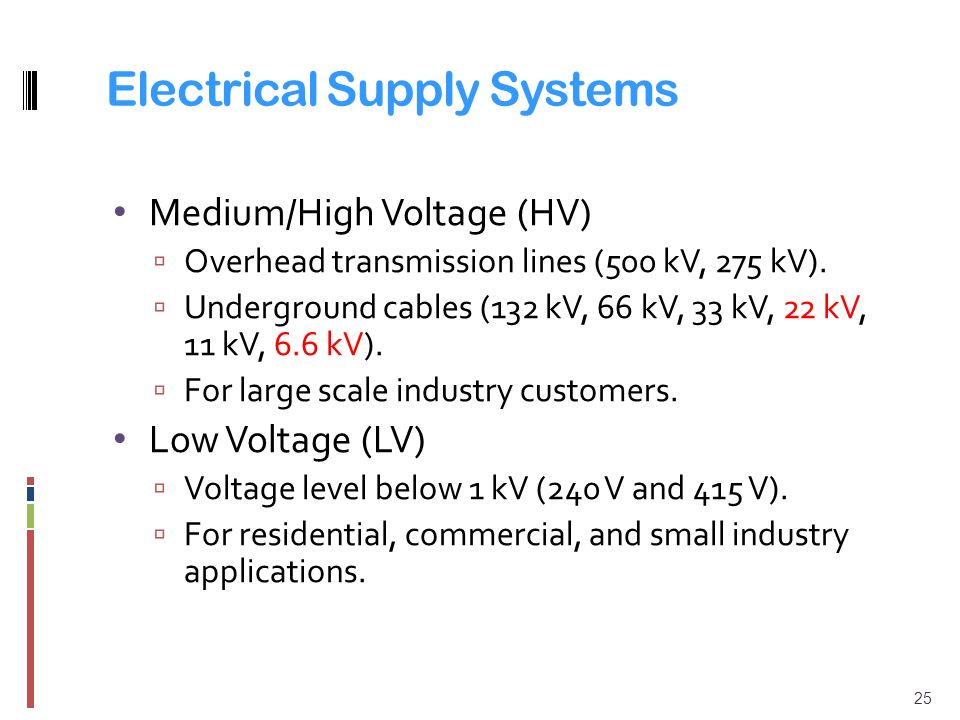 High Voltage Vs Medium Voltage : Chapter distribution systems and tariffs ppt video