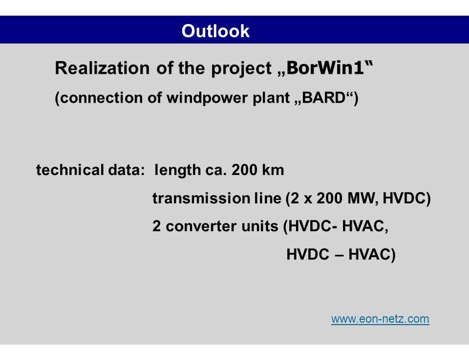 "Realization of the project ""BorWin1"