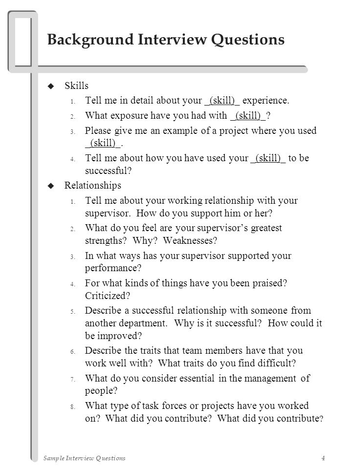 Sample Interview Questions  Ppt Video Online Download