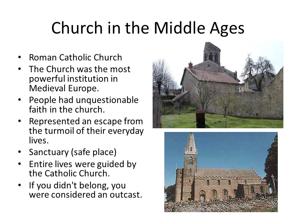 role of the church in the middle ages