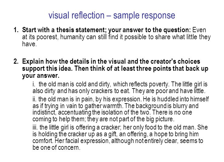 Visual Reflection Ela Ppt Video Online Download