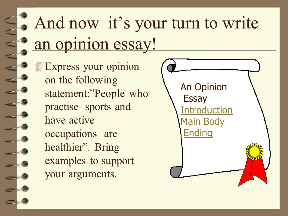 write introduction opinion essay Teaching students how to write an introduction for an essay must incorporate these two aspects slide 2 of 3 capture the reader's attention  it contains a subject and an opinion in a persuasive essay it must take a stand essay introduction lesson plan procedures.