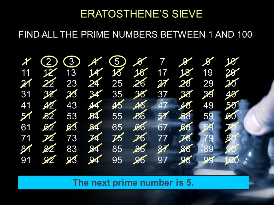how to find the prime numbers between 1 and 100