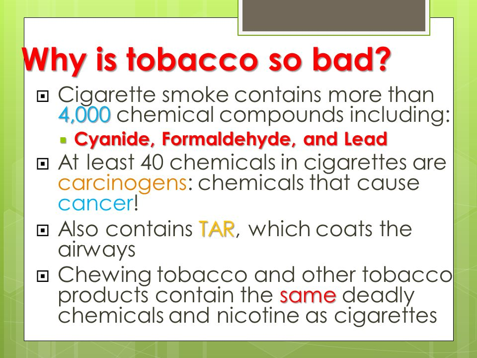 tobacco as the main source for fatal illnesses in the united states Long known to cause lung cancer and heart disease, smoking also  smoking is  the largest cause of premature death in the united states.