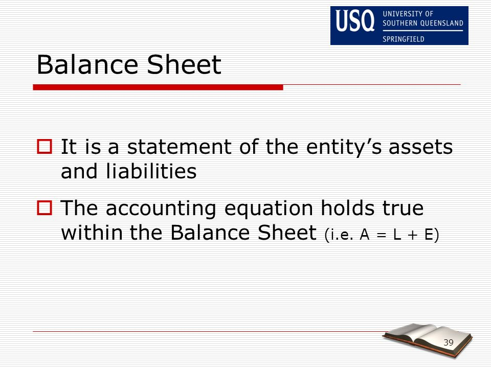 The Process Of Accounting  The Balance Sheet  Ppt Video Online