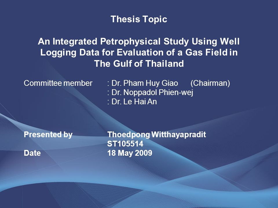 interactive petrophysics thesis