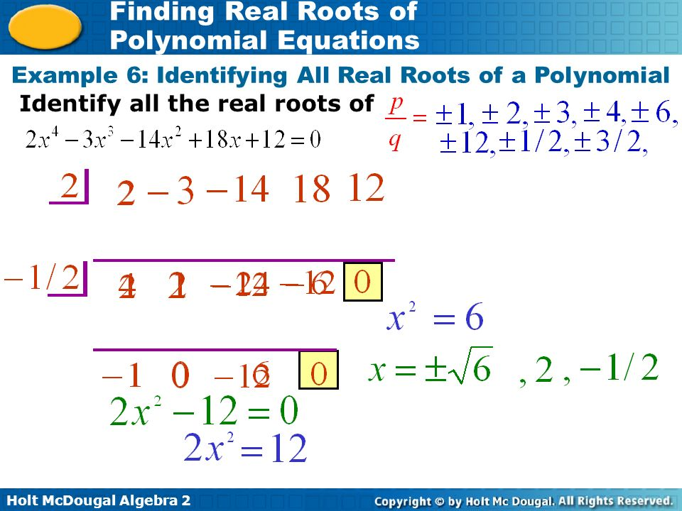 finding real roots of polynomial equations 6 5 practice b tessshebaylo. Black Bedroom Furniture Sets. Home Design Ideas