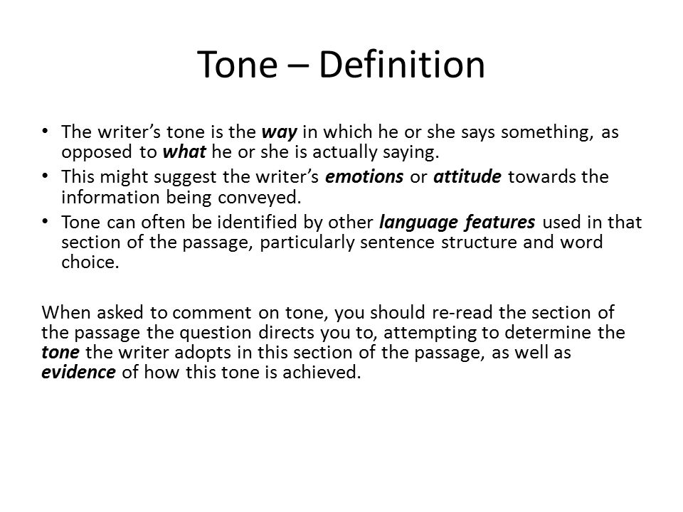 tone of an essay definition Objective tone is used when a writer wants to deliver information in a neutral, factual and unbiased way objective tones can be achieved by avoiding personal pronouns, judgemental words.