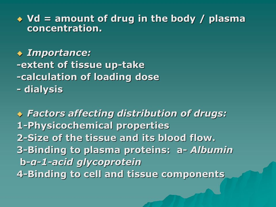 factors affecting drug distribution in the body pdf