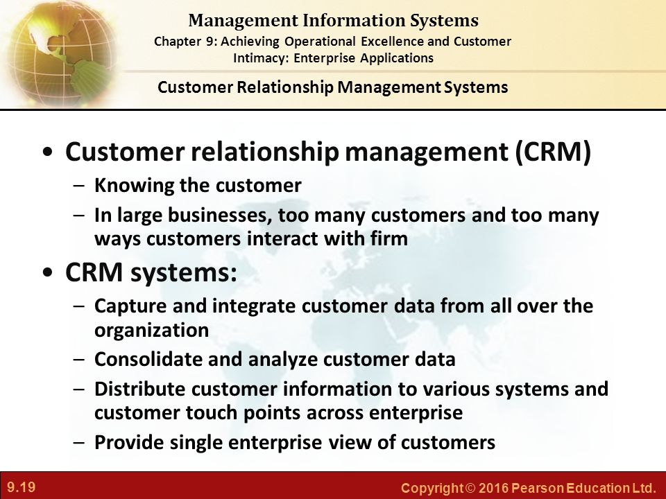 how information system facilitate customer relationship management in business