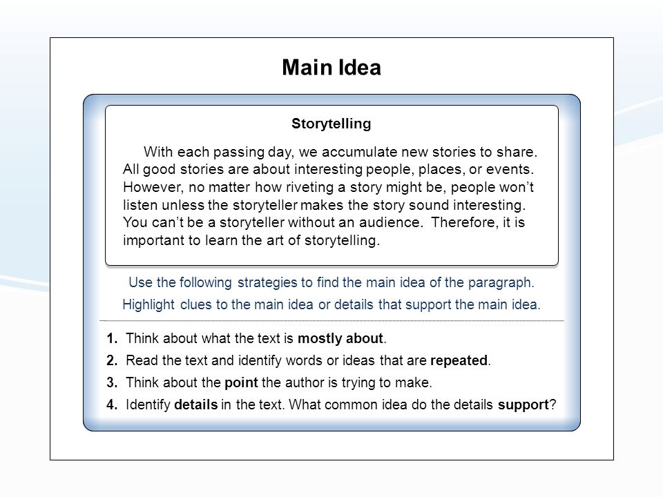 how to think of a story idea