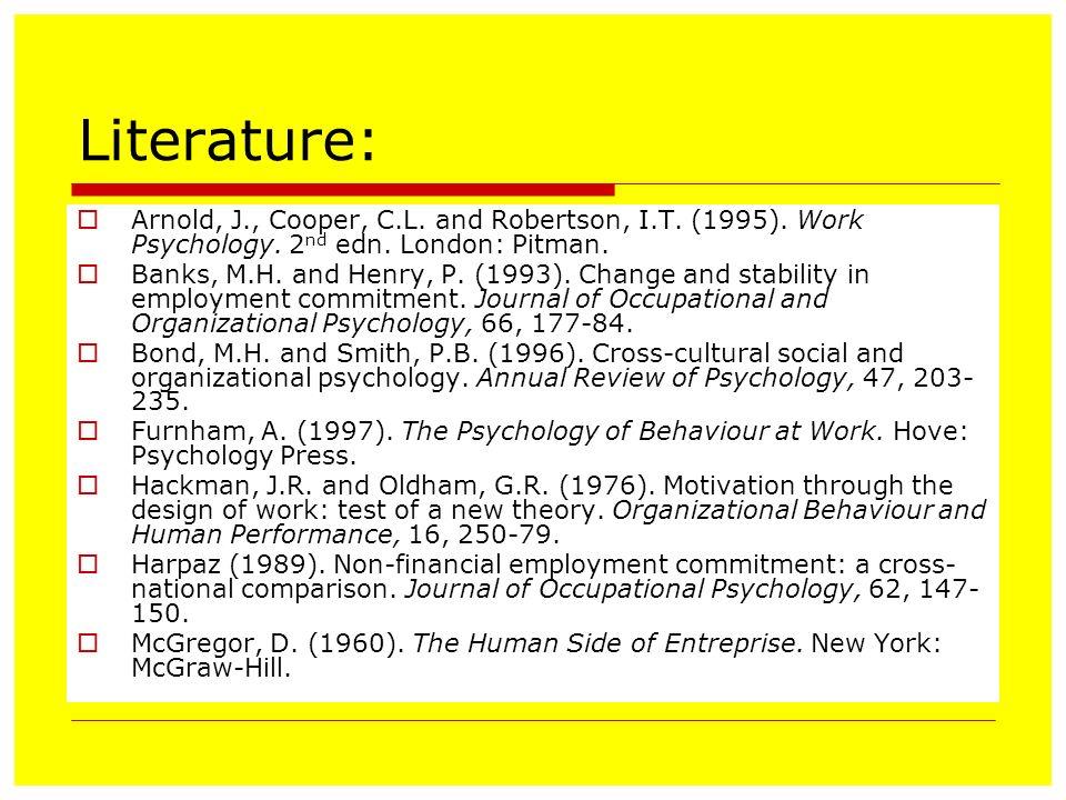 journal of occupational and organizational psychology pdf