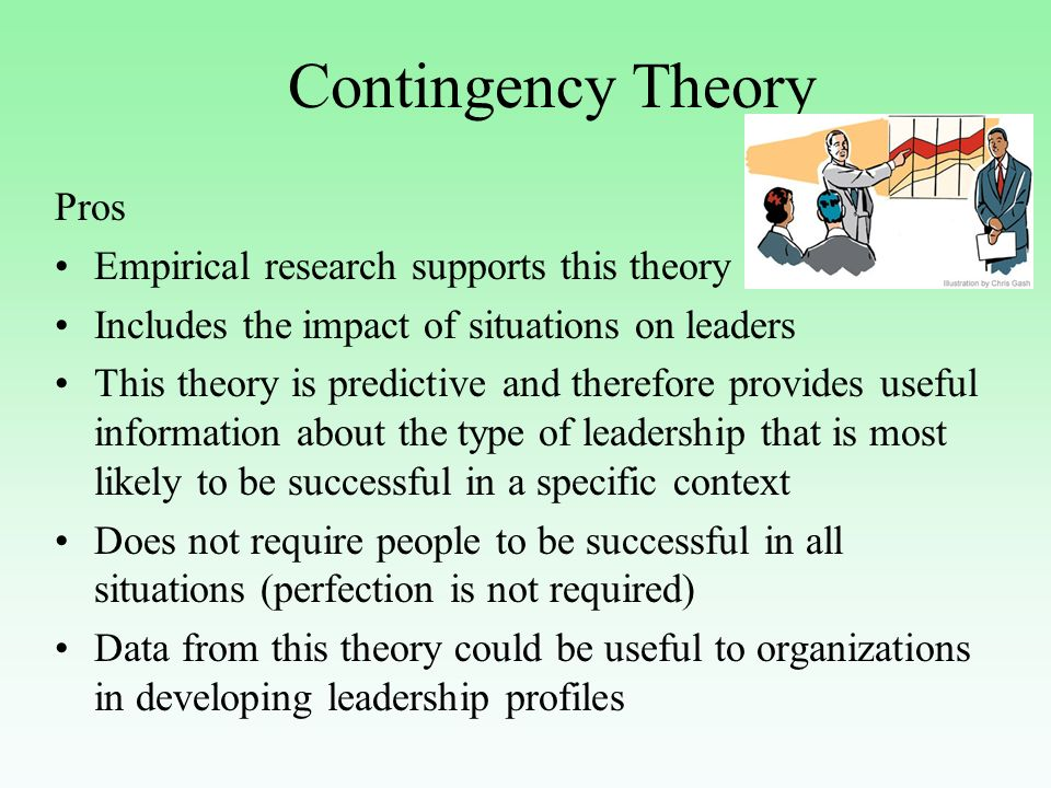 contingency approach advantages
