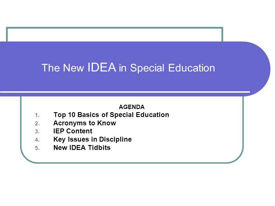 10 Key Procedural Safeguards In Idea >> The New Idea In Special Education Ppt Video Online Download