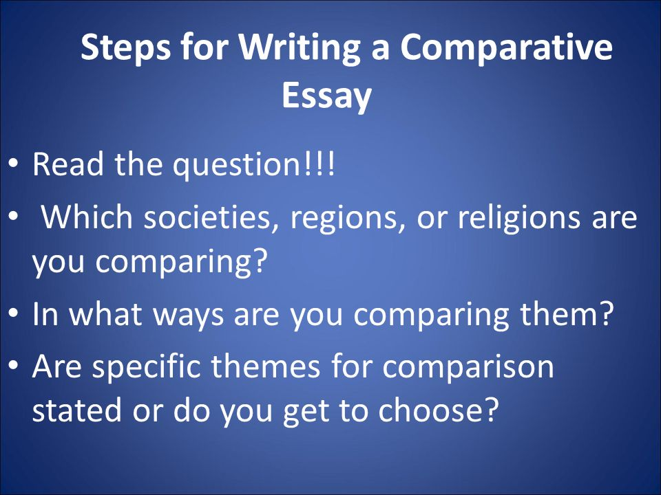 writing a good comparison and contrast essay To write a comparison or contrast essay that is easy to follow, first decide what the similarities or differences are by writing lists on scrap paper.