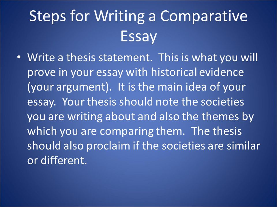 What is a Comparative Essay – a short definition