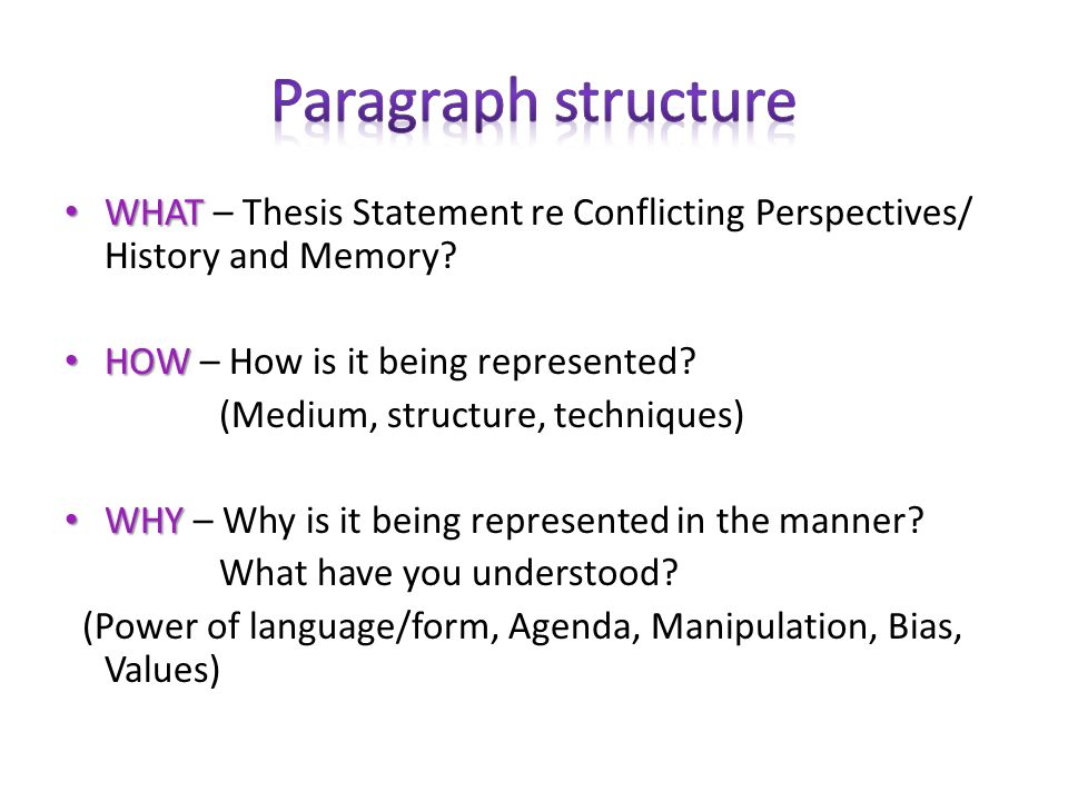 Conflicting Perspectives Essay Sample