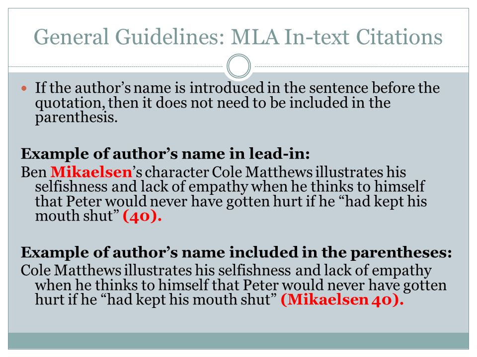 citing textual evidence using mla format