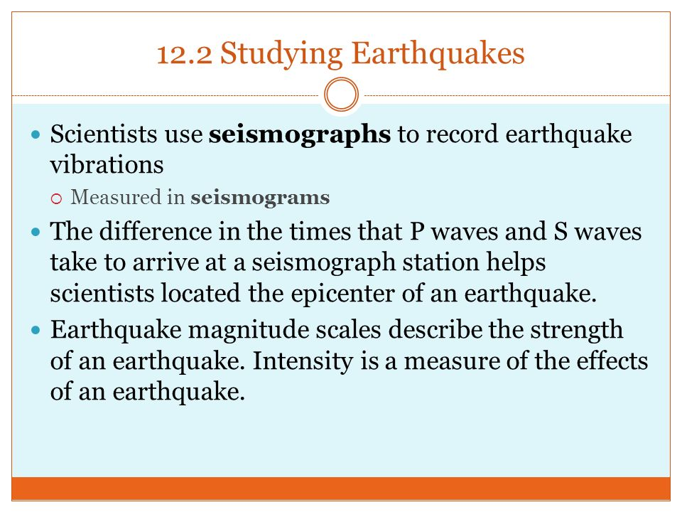 12 2 studying earthquakes Earthquake locations and epicenters today and in the last few days - the most recent earthquakes.