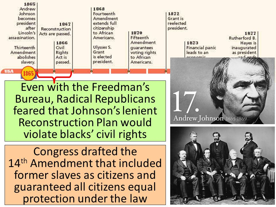 radical reconstruction of 1867 1877 significant changes The radical republicans also had johnson impeached in 1867  reconstruction acts of 1867  apush reconstruction 1863-1877 43 terms reconstruction.
