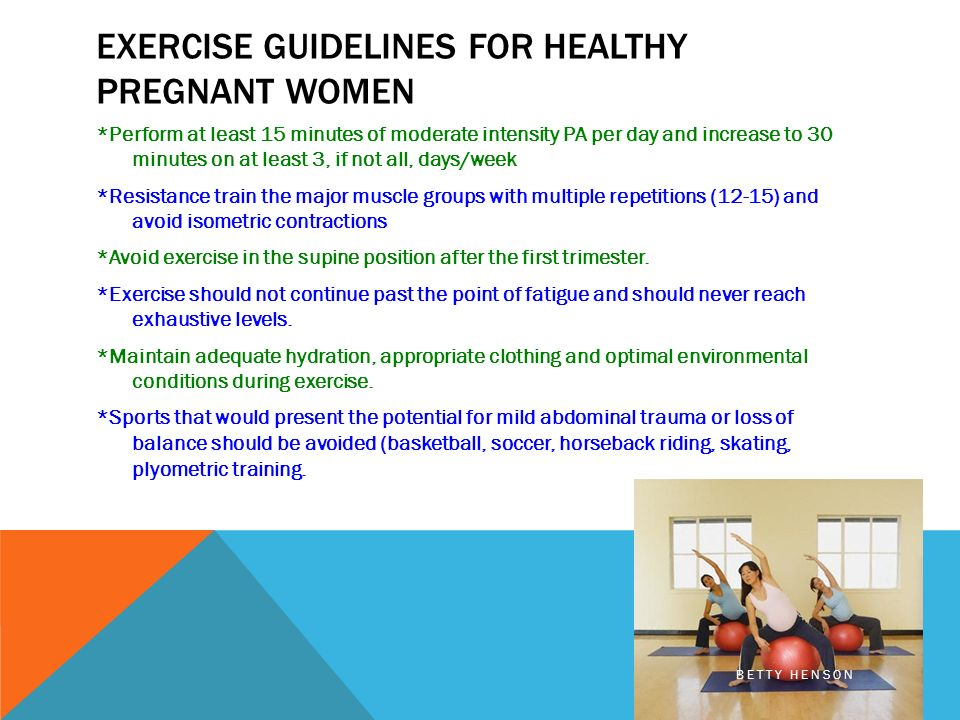 Exercise Guidelines For Pregnant Women 36