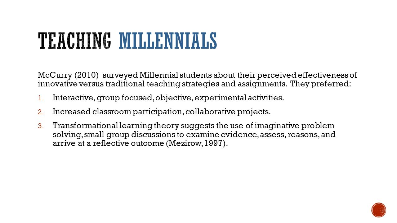 Innovative Classroom Teaching Strategies ~ Millennial madness invades the classroom ppt download