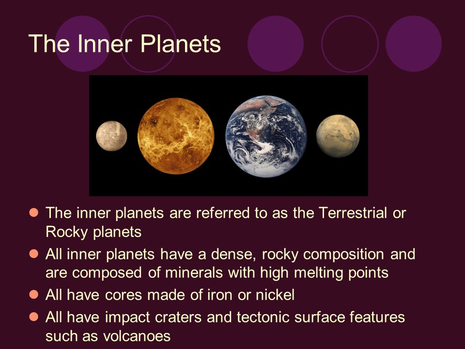 The Solar System Inner and Outer Planets - ppt video ...