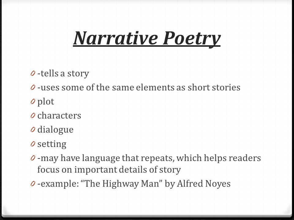 Because i know you love poetry ppt download narrative poetry tells a story thecheapjerseys Gallery